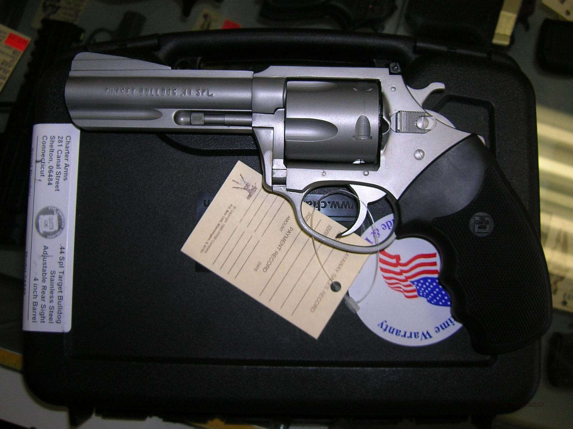 CHARTER ARMS TARGET BULLDOG 44 SPECIAL REVOLVER  Guns > Pistols > Charter Arms Revolvers
