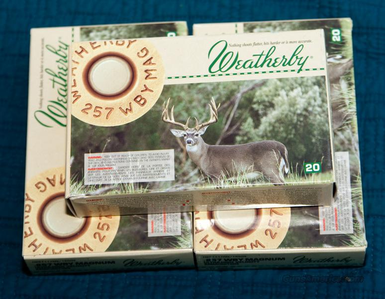 Weatherby .257 117gr Ammo  Non-Guns > Ammunition