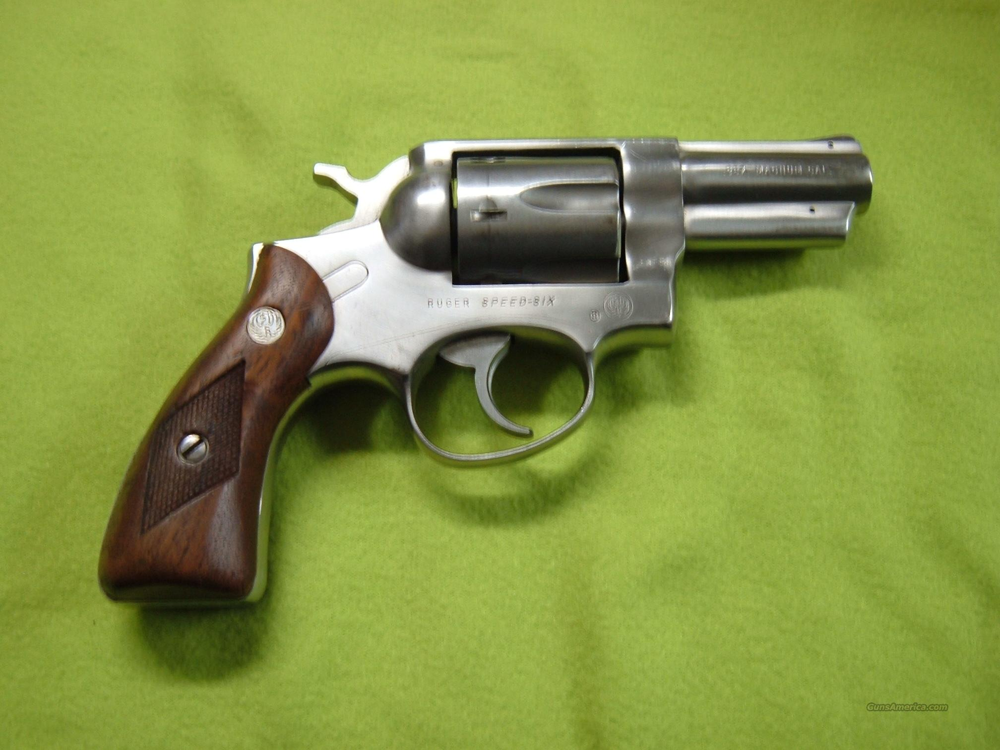 "RUGER SPEED SIX STAINLESS STEEL 357 MAGNUM, 2 3/4"" BARREL  Guns > Pistols > Ruger Double Action Revolver > Security Six Type"