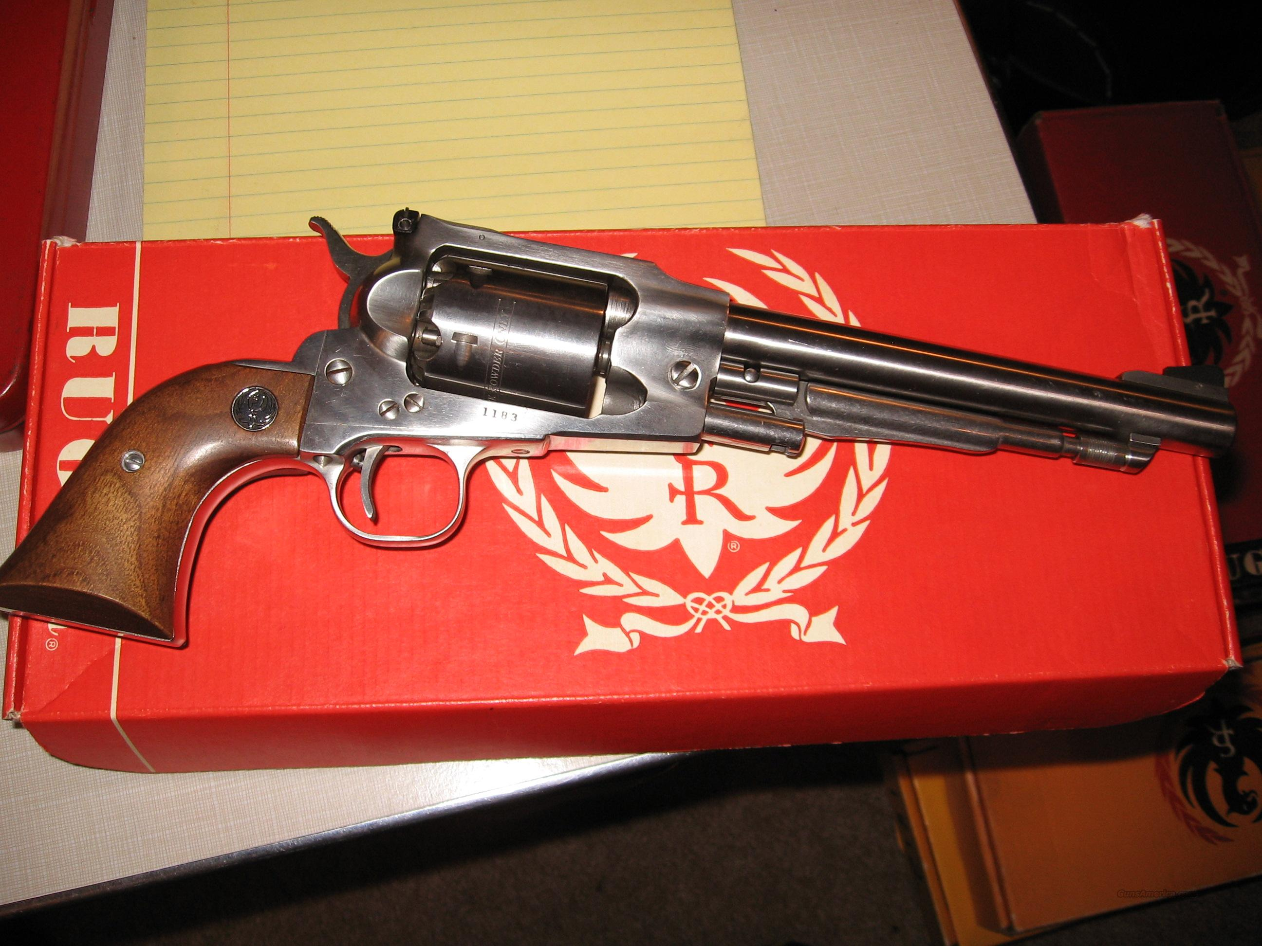 OLD ARMY STAINLESS STEEL .44 (.457 BALL) 1975  Guns > Pistols > Ruger Cap & Ball Revolvers