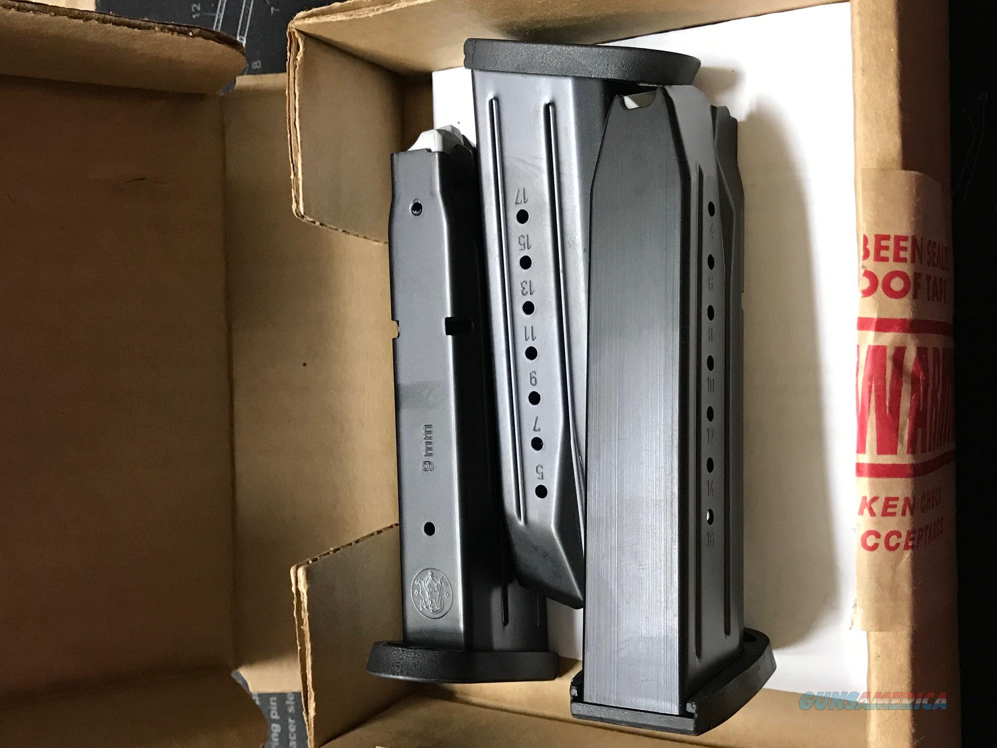 Three New S&W M&P 9mm 17 rd OEM Factory Magazines  Non-Guns > Magazines & Clips > Pistol Magazines > Smith & Wesson