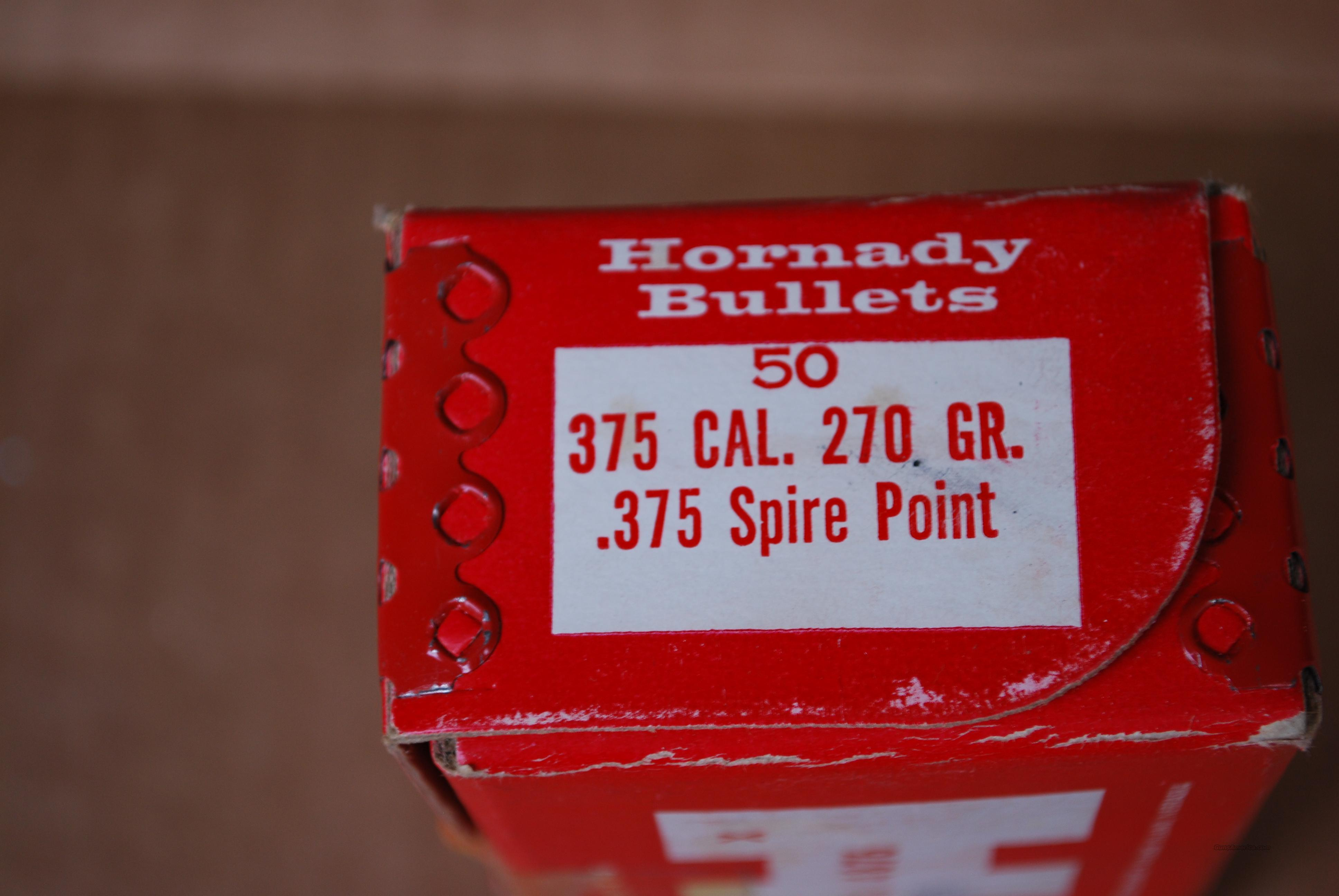 Hornady .375 cal. 270 grain SP Bullets  Non-Guns > Reloading > Components > Bullets
