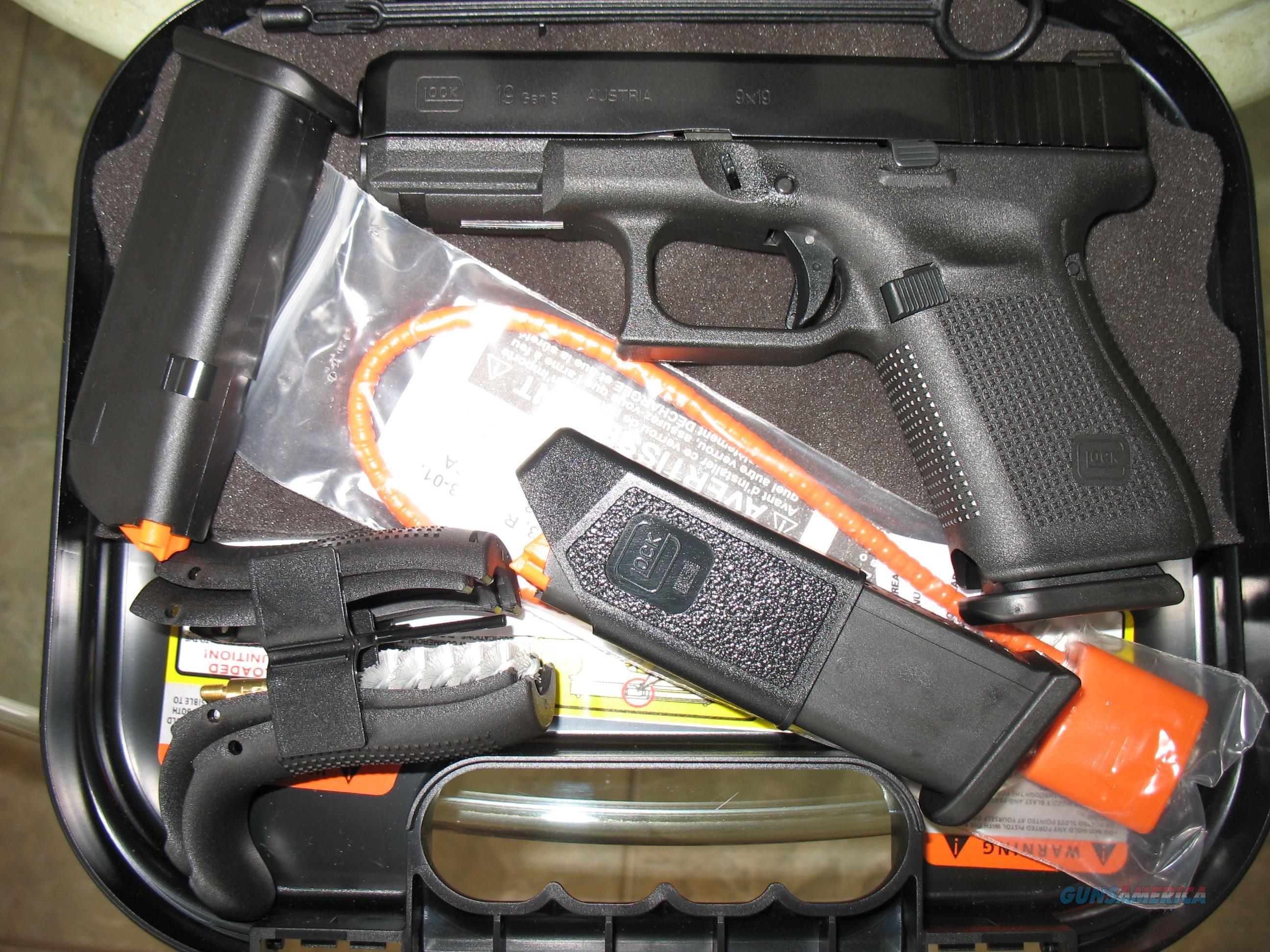 NIB Glock 19 9MM GEN5 AMERIGLO BOLD NIGHTS!  Guns > Pistols > Glock Pistols > 19