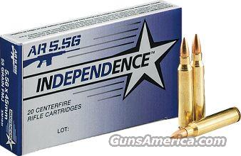 Independence 5.56 NATO Rifle Ammo 55 Gr FMJ 20RD  Non-Guns > Ammunition
