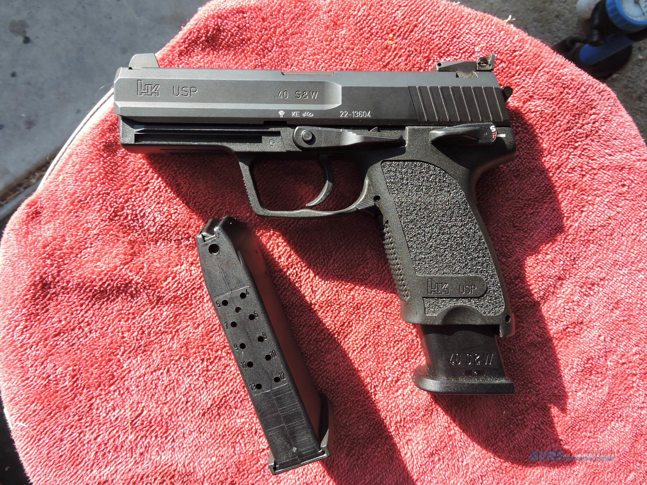 H&K Heckler & Koch USP .40 S&W ADJUSTABLE SIGHTS!  Guns > Pistols > Heckler & Koch Pistols > Polymer Frame