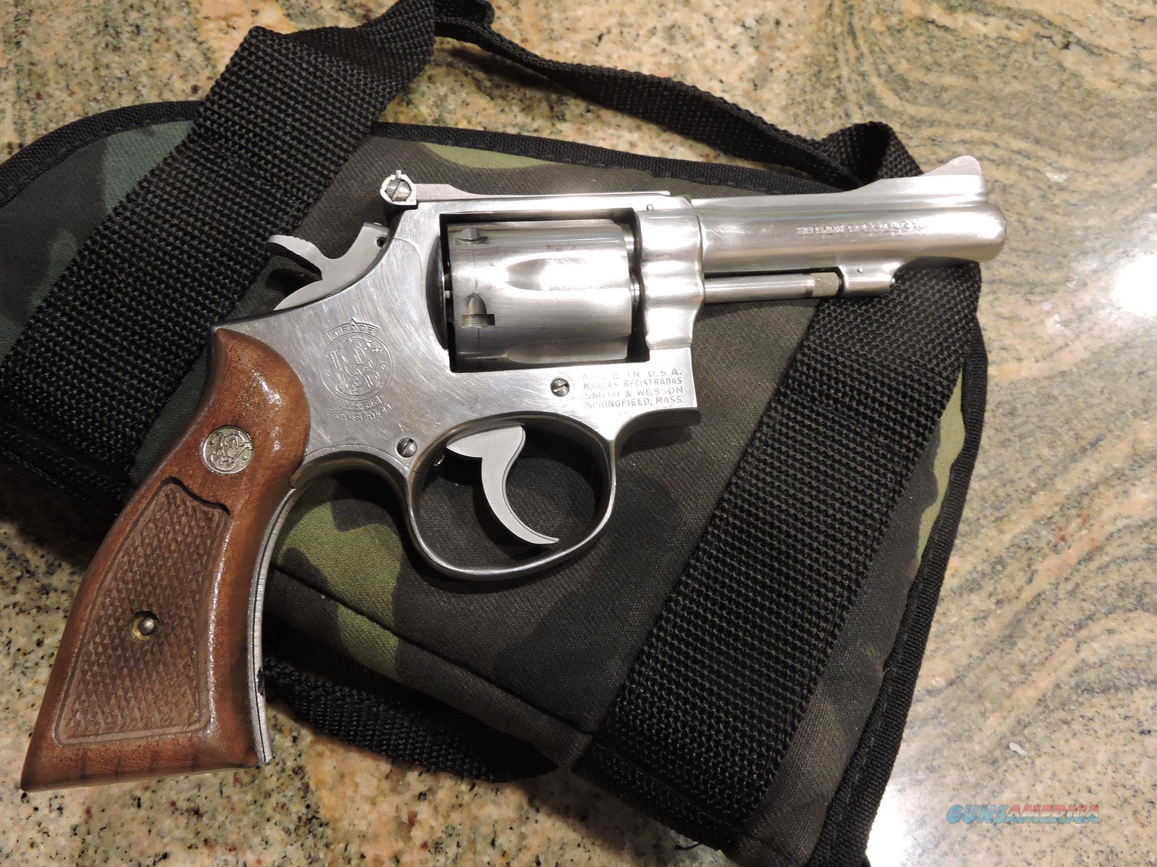 """SMITH & WESSON Model 67 (-0) .38 Special Revolver, 4"""" STAINLESS SIGHTS  Guns > Pistols > Smith & Wesson Revolvers > Med. Frame ( K/L )"""