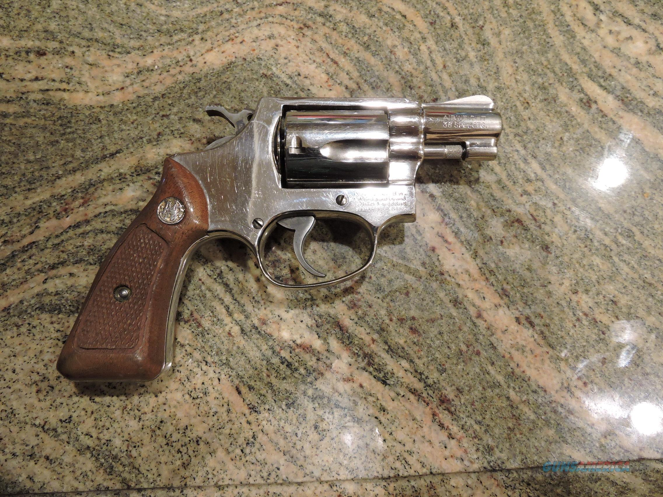 Smith & Wesson Model 37 Airweight .38 Special NICKEL!  Guns > Pistols > Smith & Wesson Revolvers > Full Frame Revolver