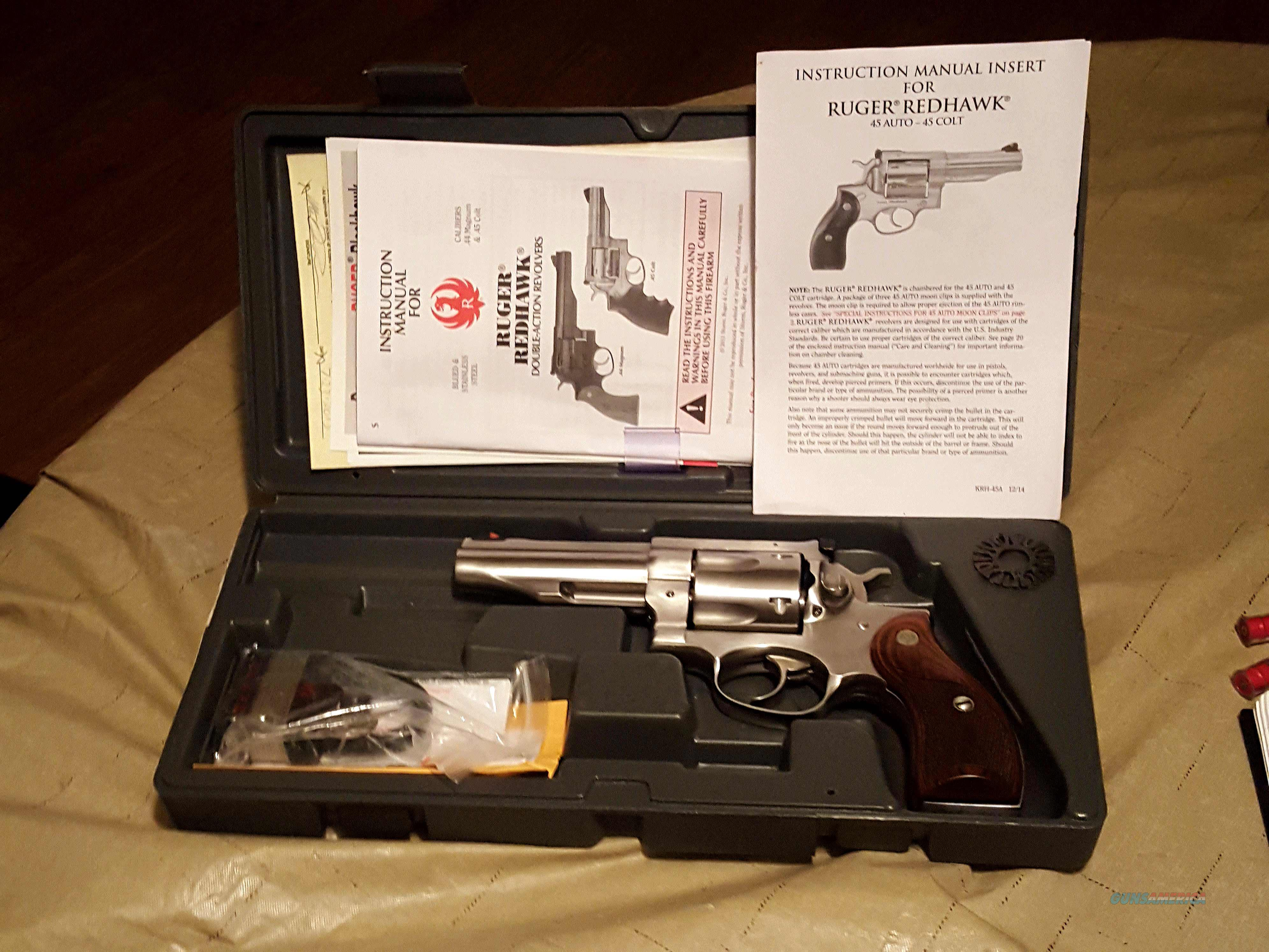 Ruger Redhawk 4.2 inch barrel 45Colt and 45ACP   Guns > Pistols > Ruger Double Action Revolver > Redhawk Type