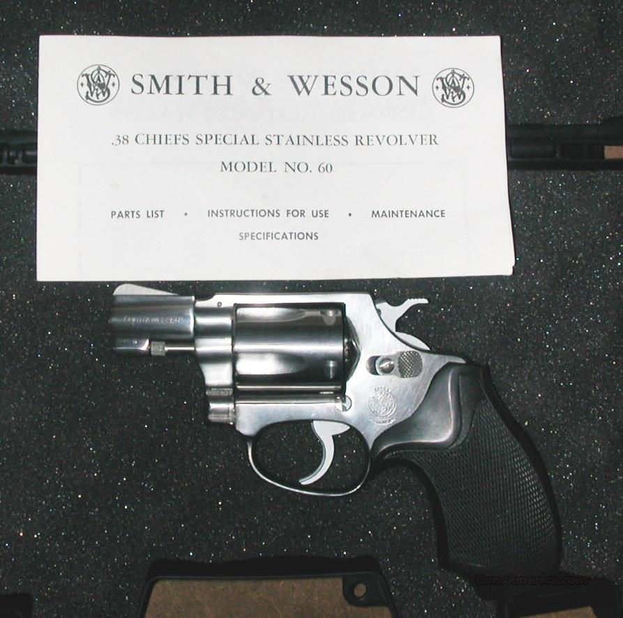 Smith & Wesson Model 60, 38 special  Guns > Pistols > Smith & Wesson Revolvers > Full Frame Revolver