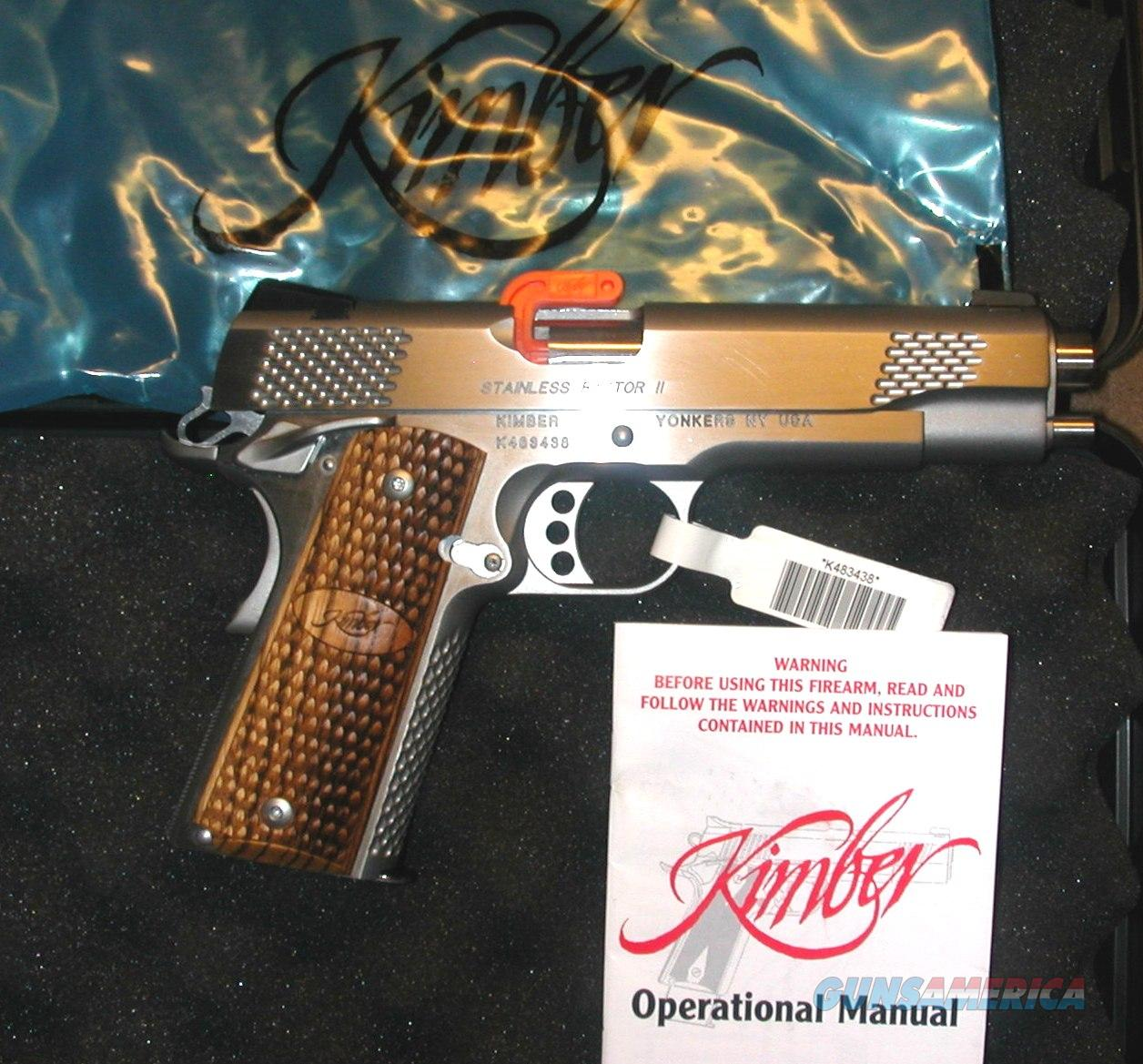 Kimber Stainless Raptor II, 45 caliber, NEW  Guns > Pistols > Kimber of America Pistols