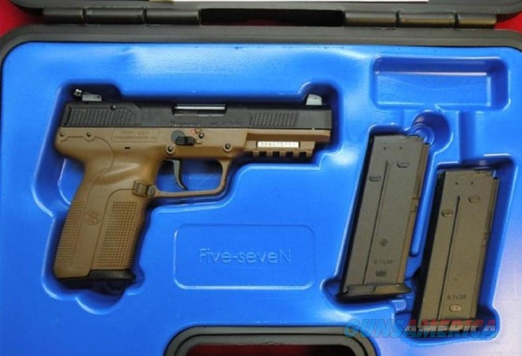 FN Five Seven, 57x28, Dark Earth, 3 hi-caps, adj sights, NIB  Guns > Pistols > FNH - Fabrique Nationale (FN) Pistols > FiveSeven
