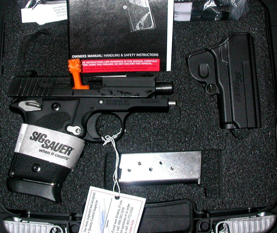 Sig Sauer P938, 9mm, Sport, 2 mags, fiber optic front sight, NIB  Guns > Pistols > Sig - Sauer/Sigarms Pistols > Other