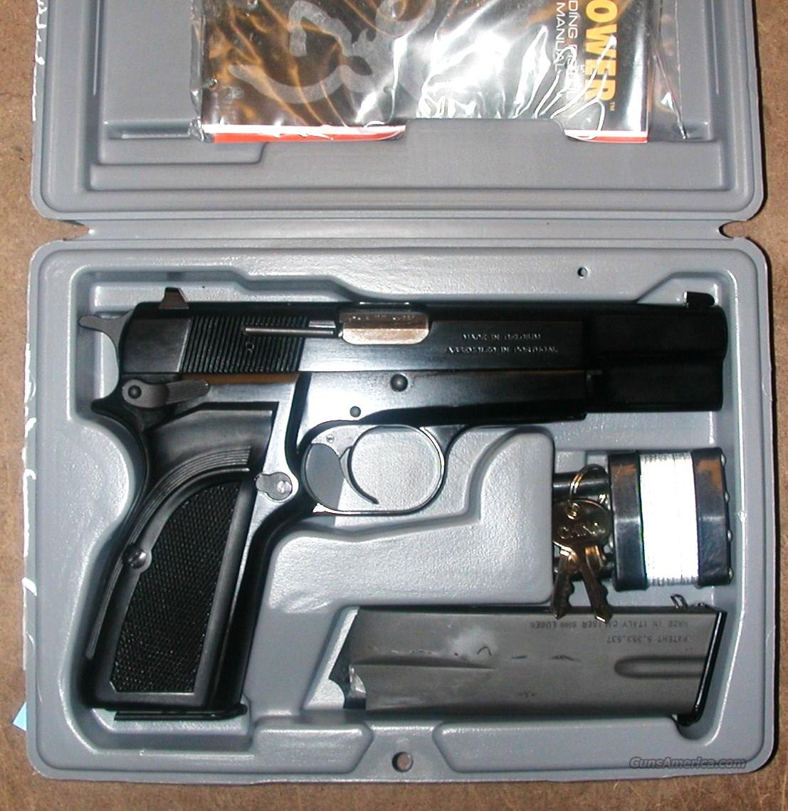 Browning Mark III, 9mm, Hi Power, 2 thirteen rnd mags, NIB  Guns > Pistols > Browning Pistols > Hi Power