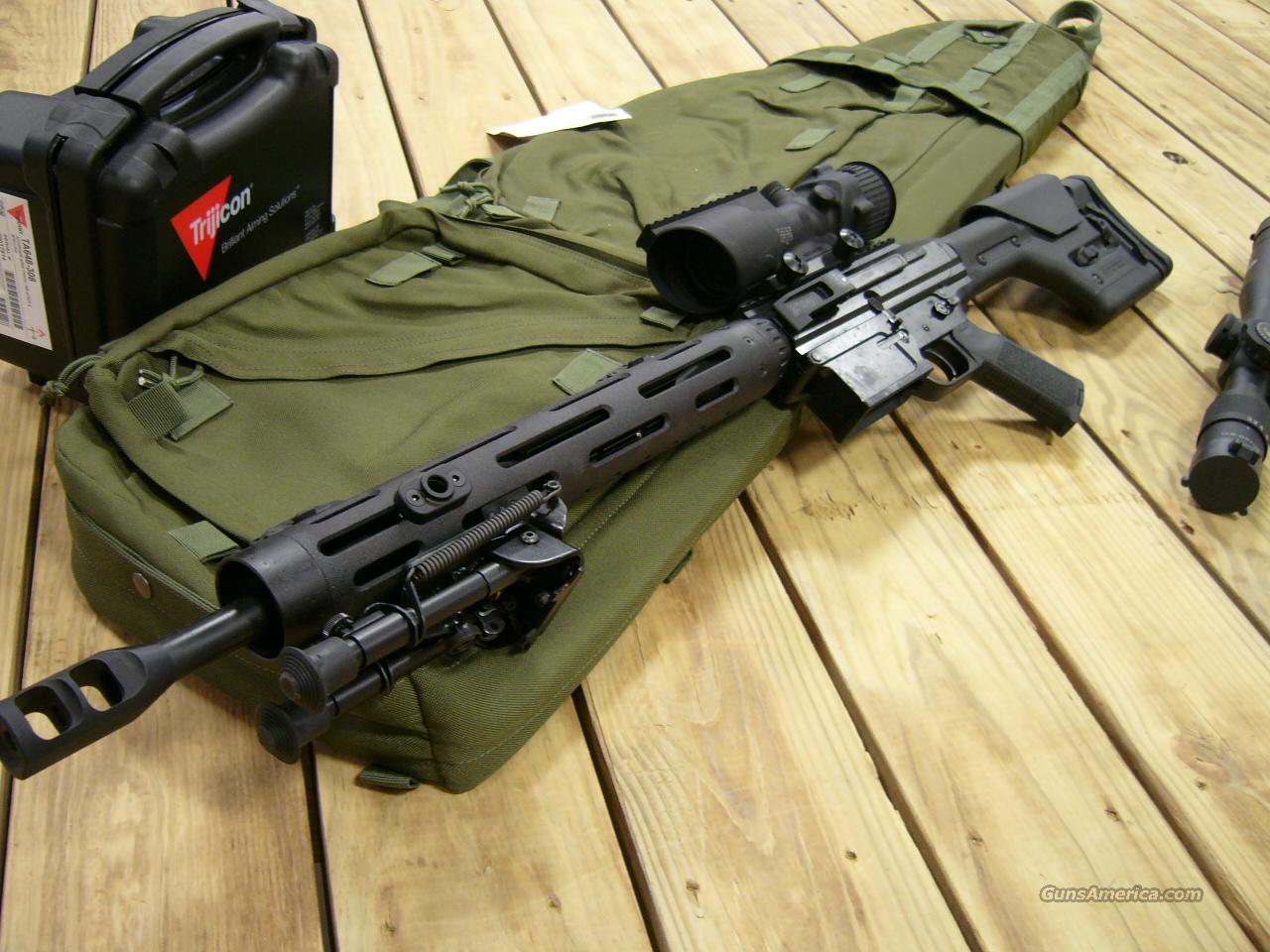 JP RIFLES SNIPER/MATCH .308 SIDE CHARGER W/ TRIJICON 6X ACOG IN STOCK!  Guns > Rifles > Heckler & Koch Rifles > Tactical