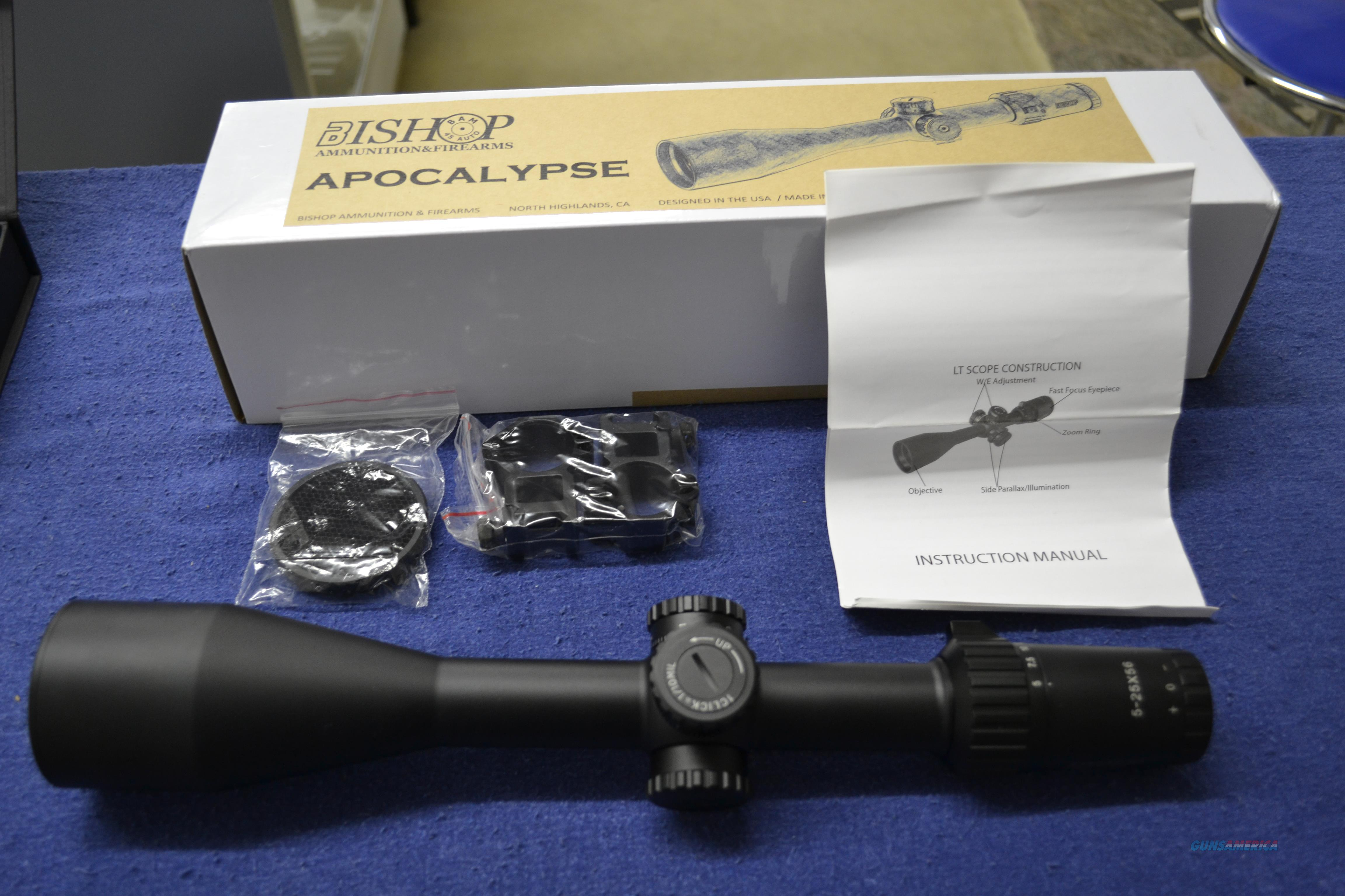 Bishop  Apocolypse 5-25 X 56MM  FFP ranging  Non-Guns > Scopes/Mounts/Rings & Optics > Rifle Scopes > Variable Focal Length