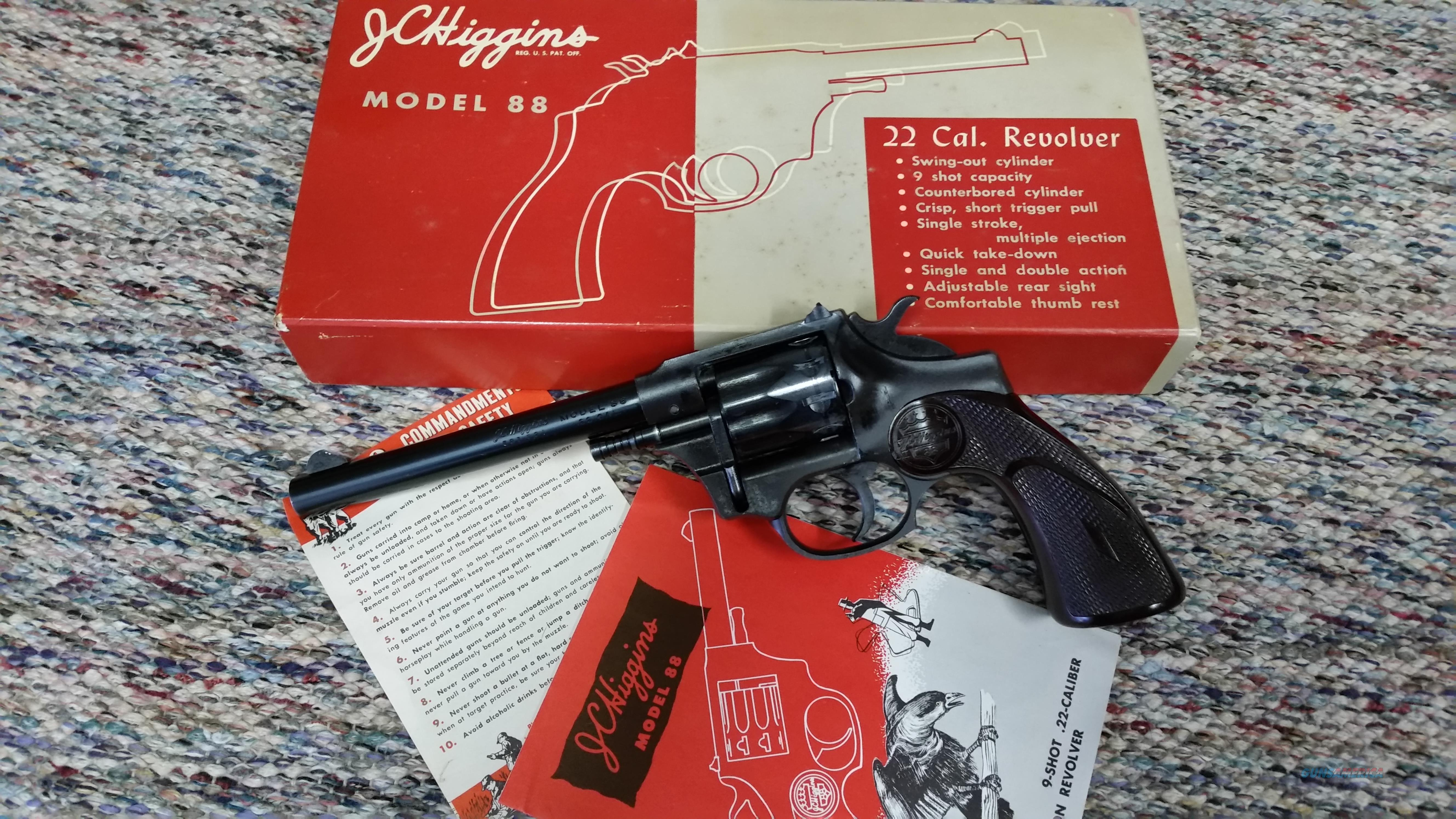 J C Higgins Model 88 Revolver  Guns > Pistols > High Standard Pistols