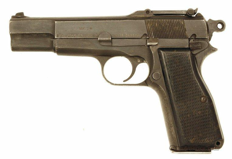 Inglis Browning High Power, Chinese Contract Tangent Sight Cut for Stock   Guns > Pistols > Browning Pistols > Hi Power