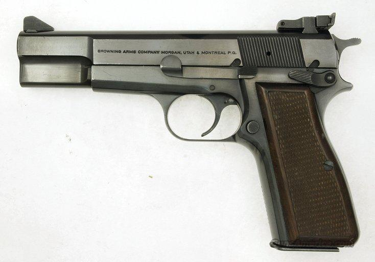 Browning 9mm High Power, Factory Target Sights  Guns > Pistols > Browning Pistols > Hi Power