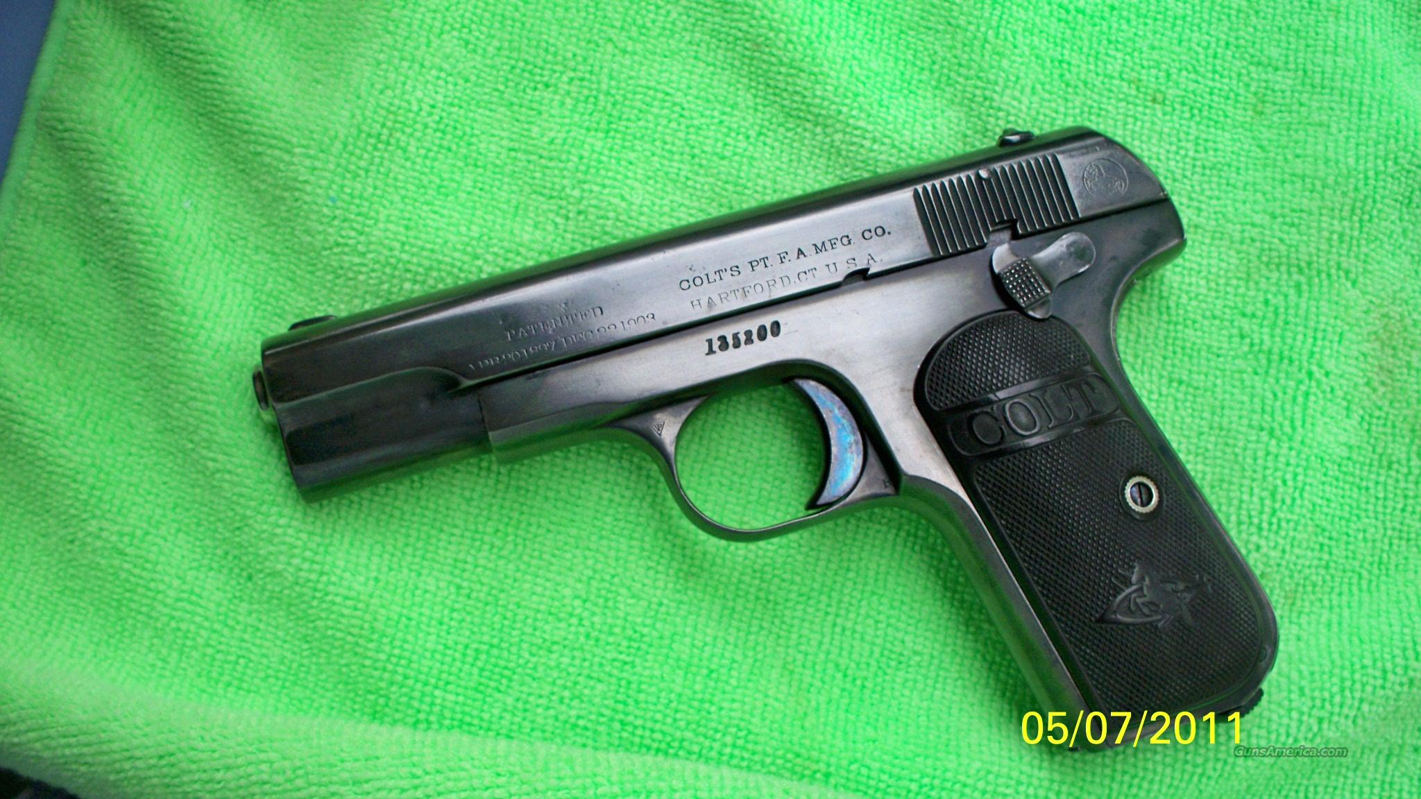 colt model 1903 type 3  32acp  Guns > Pistols > Colt Automatic Pistols (.25, .32, & .380 cal)