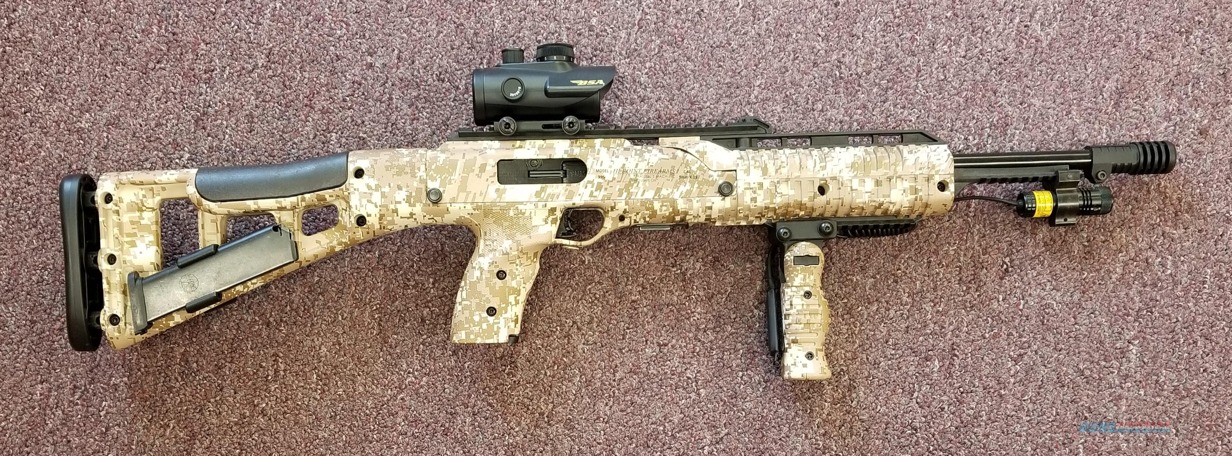 Hi-Point 995 Desert Digital Camo 9mm Tactical Carbine - Free Shipping !  Guns > Rifles > Hi Point Rifles