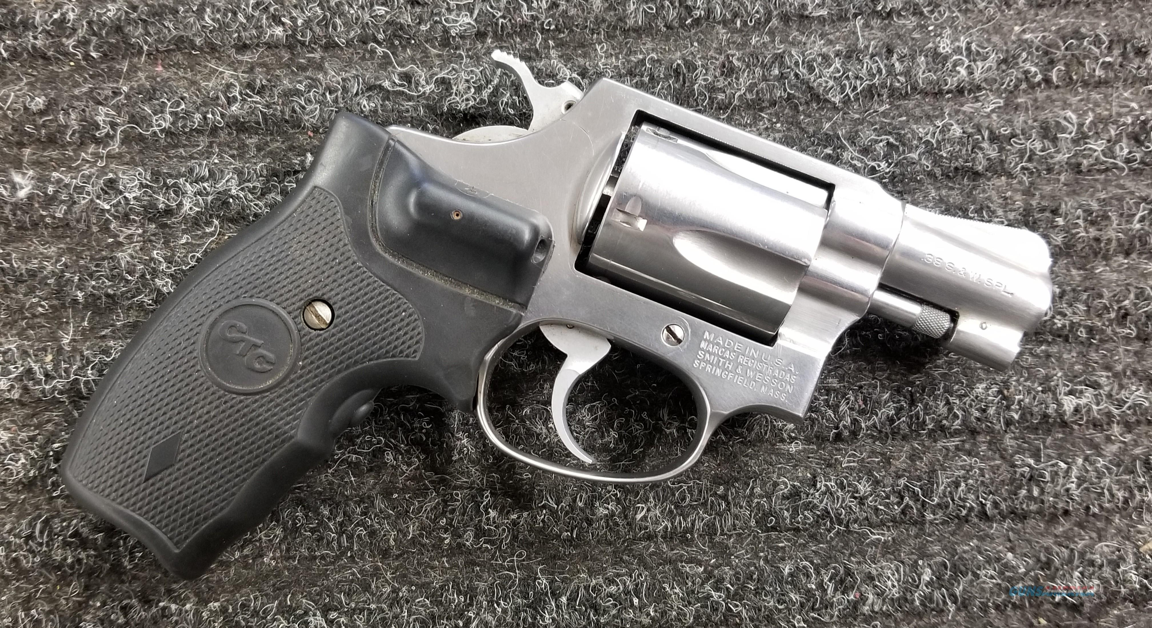 Smith & Wesson Model 60 Stainless 38 Special - CTC Laser Grip - Custom Holster - Free Shipping !  Guns > Pistols > Smith & Wesson Revolvers > Small Frame ( J )