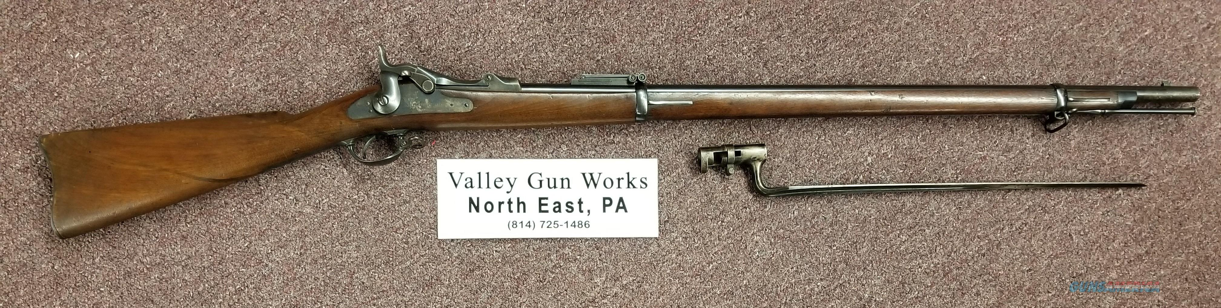 Springfield 1873 Trapdoor 45-70 w/bayonet - Free Shipping  Guns > Rifles > Military Misc. Rifles US > Rev War - 1860