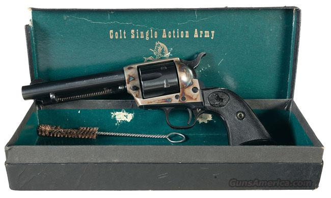 COLT SAA 2ND GENERATION IN .38 SPECIAL WITH 5 1/2 INCH BARREL AND BLUE/CASE COLOR FINISH IN BLACK BOX!!  Guns > Pistols > Colt Single Action Revolvers - 2nd Gen.