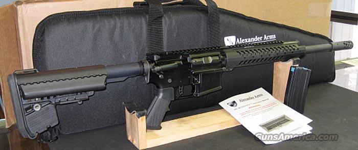50 CALIBER BEOWULF BY ALEXANDER ARMS, BATTLE RIFLE PACKAGE  Guns > Rifles > A Misc Rifles