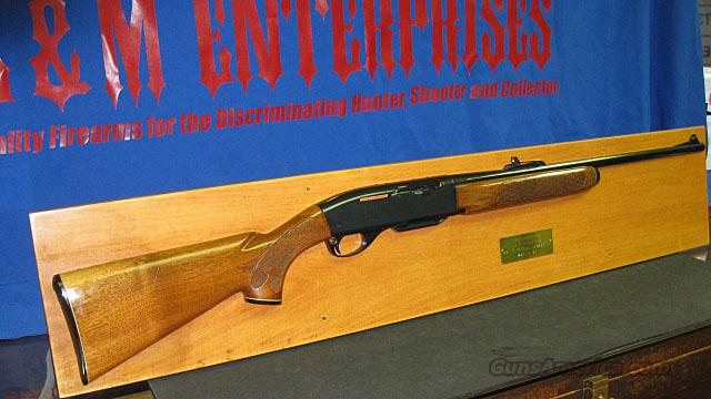 REMINGTON ARMS PRESENTATION RIFLE, MODEL 742, MOUNTED FOR DISPLAY. PRESENTED IN 1971 BY DEPARTMENT 82. ONE OF A KIND FOR THE REMINGTON COLLECTOR / ENTHUSIAST !!  Guns > Rifles > Remington Rifles - Modern > Model 700 > Sporting
