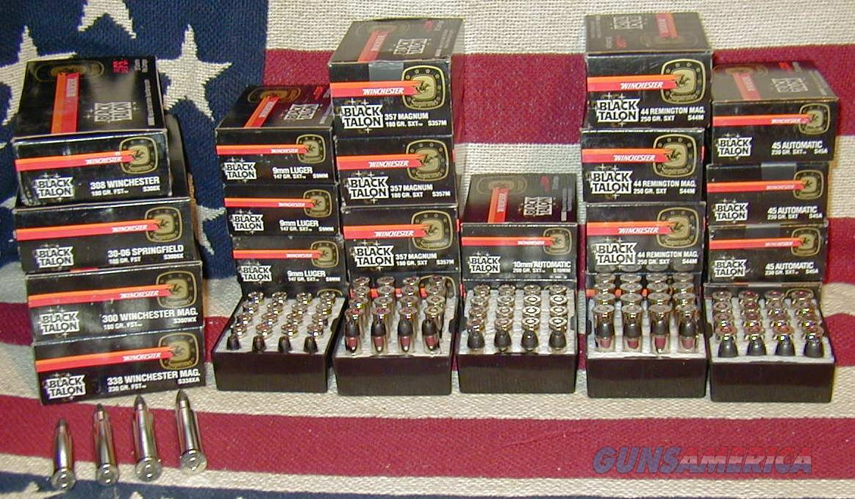 BLACK TALON HANDGUN & RIFLE AMMUNITION BY WINCHESTER!! HIGH PERFORMANCE!!  SCARCE & DESIRABLE !!   Non-Guns > Ammunition
