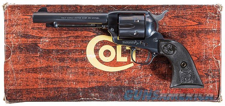 """COLT """"FULL BLUE"""" FINISH ON ALL METAL SAA 3RD GENERATION IN .44 SPECIAL AND 5 1/2 INCH BARREL. FACTORY LETTER. NEW IN BOX! RARE COLT!  Guns > Pistols > Colt Single Action Revolvers - 3rd Gen."""