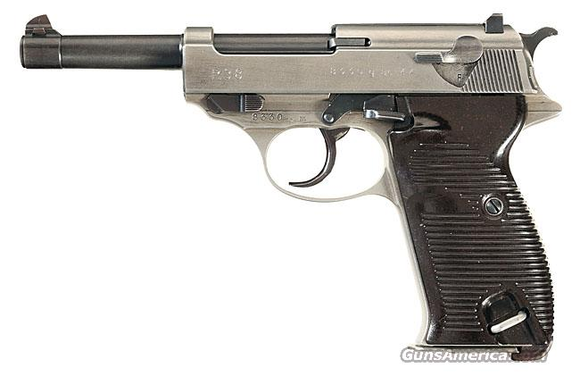 RARE & COLLECTIBLE WALTHER P-38 WITH EXPERIMENTAL CHROME FINISH!!  Guns > Pistols > Walther Pistols > Pre-1945 > P-38