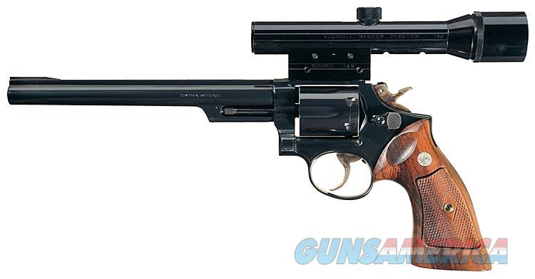 S&W MODEL 53-2 IN .22 REMINGTON JET WITH 8 3/8 INCH BARREL, BUSHNELL SCOPE AND BASE, HUNTER LEATHER HOLSTER AND 5 BOXS OF FACTORY ORIGINAL REMINGTON AMMUNITON.  Guns > Pistols > Smith & Wesson Revolvers > Full Frame Revolver