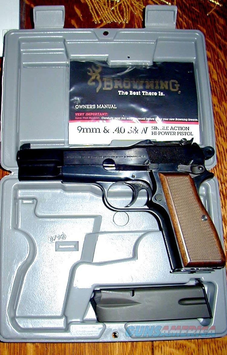BROWNING HI-POWER 9MM TANGENT SIGHTS; NEW IN CASE  Guns > Pistols > Browning Pistols > Hi Power