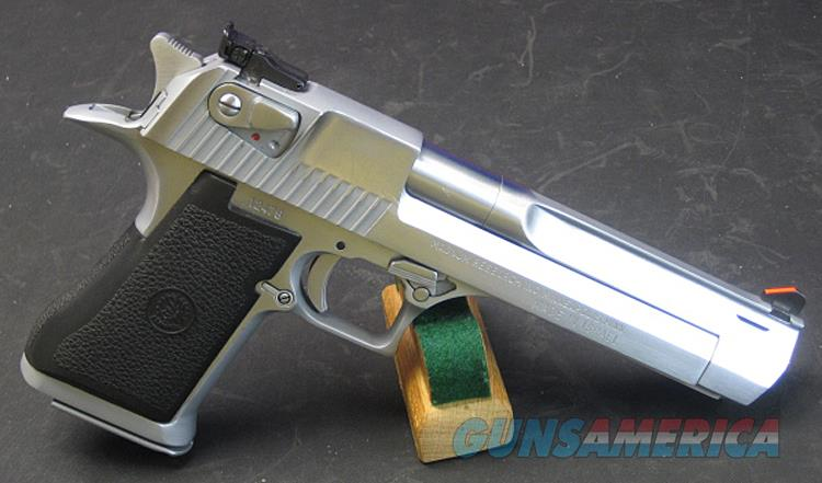 IMI DESERT EAGLE MARK VII .357 MAGNUM PISTOL IN SATIN NICKEL WITH EXTRA FACTORY MAGAZINES STILL IN ORIGINAL PACKAGING.   Guns > Pistols > IMI Pistols