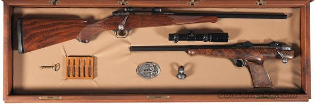 ONE OF A KIND WITCHITA ARMS ENGRAVED & CASED SERIAL NUMBER MATCHED SET OF CLASSIC RIFLE & CLASSIC SILHOUETTE PISTOL IN  6MM PPC  Guns > Rifles > Custom Rifles > Other
