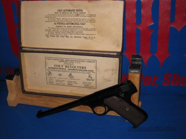 COLT WOODSMAN, 1ST SERIES FROM 1931, ORIGINAL BOX  Guns > Pistols > Colt Automatic Pistols (22 Cal.)