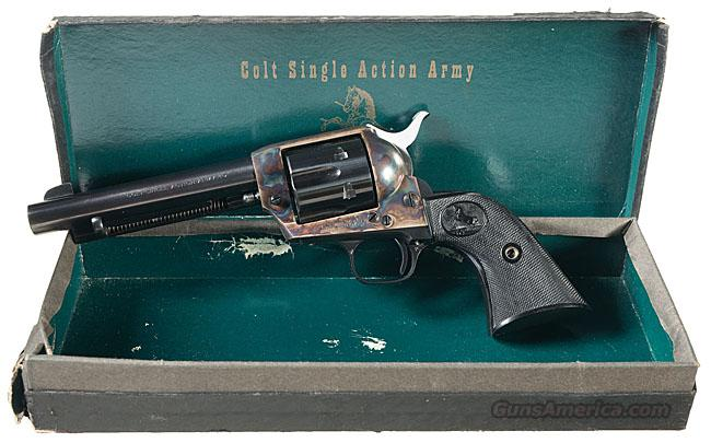 COLT 2ND GEN SAA .45, FIRST YEAR PRODUCTION, WITH 5 1/2 INCH BARREL IN BLUE. NEW IN ORIGINAL BLACK BOX!!  Guns > Pistols > Colt Single Action Revolvers - 2nd Gen.