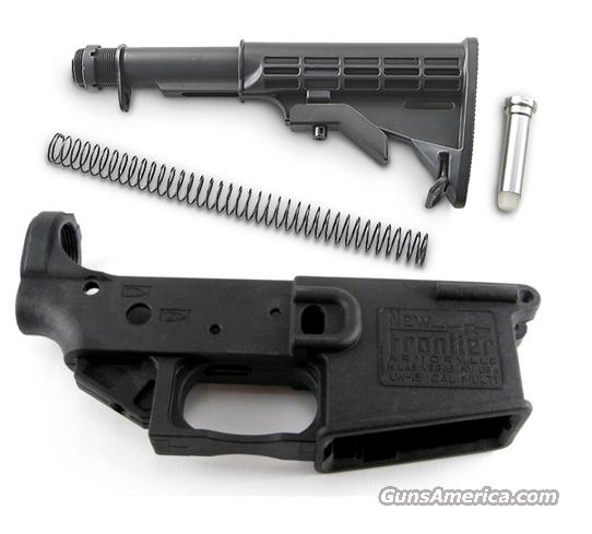 New Frontier Stripped Lower Receiver with 6-Position Stock  Guns > Rifles > AR-15 Rifles - Small Manufacturers > Lower Only
