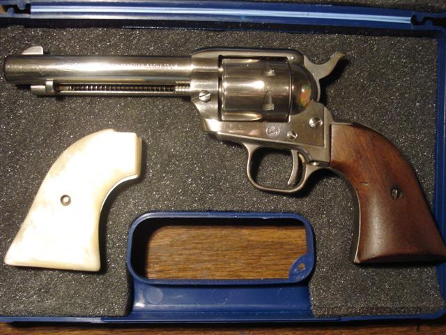 Colt Scout Nickel 1961  Guns > Pistols > Colt Single Action Revolvers - Modern (22 Cal.)