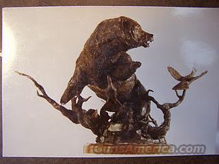 Bronze Sculpture of a famous Grizzly Bear - Old Ephraim, AKA - Ol' Three Toes  Non-Guns > Artwork