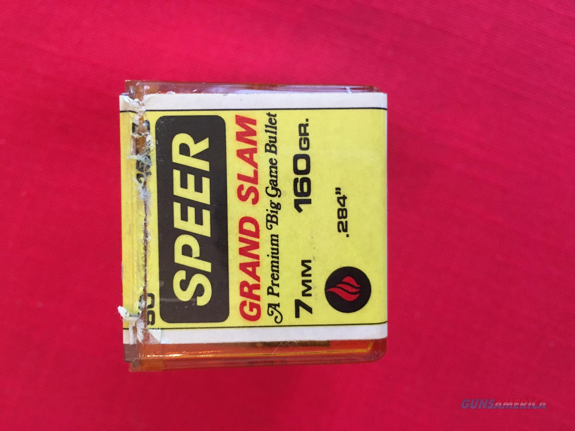Speer Grand Slam - 7mm (.284) 160 grn. jacketed soft point (box of 50)  Non-Guns > Reloading > Components > Bullets