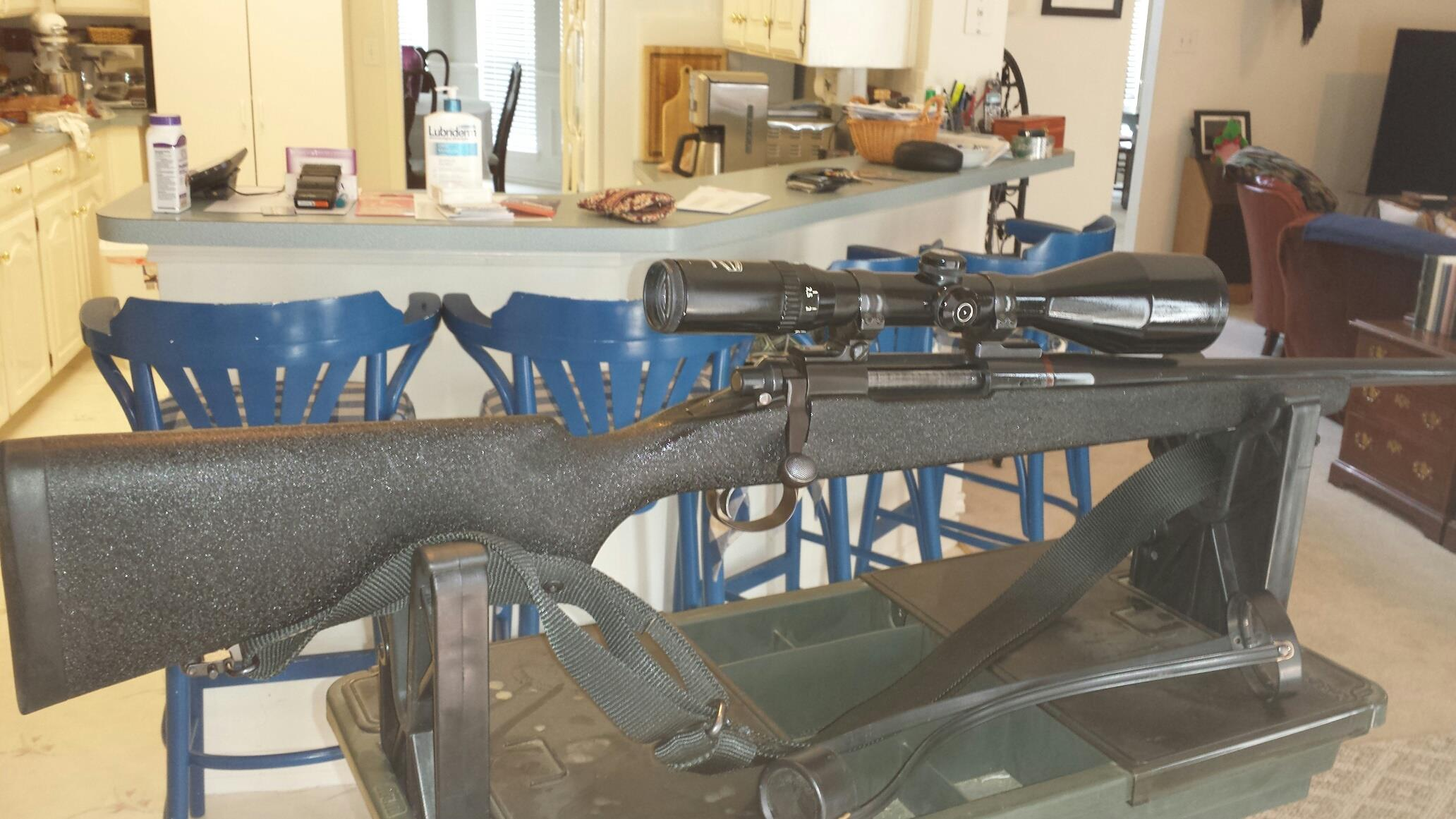 Custom Made 7mm STW Bolt Action Rifle with 2.5x10x56 Schmidt & Bender Rifle Scope  Guns > Rifles > Custom Rifles > Bolt Action