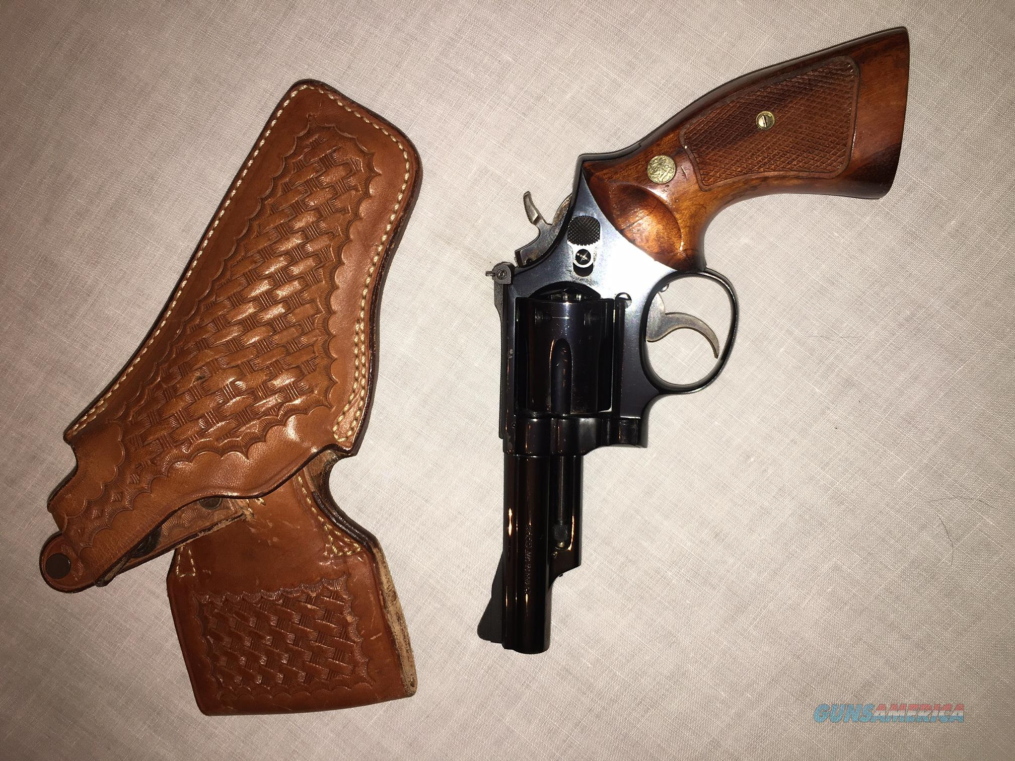 Smith & Wesson Model 19-4 357 Magnum with Leather Holster  Guns > Pistols > Smith & Wesson Revolvers > Full Frame Revolver
