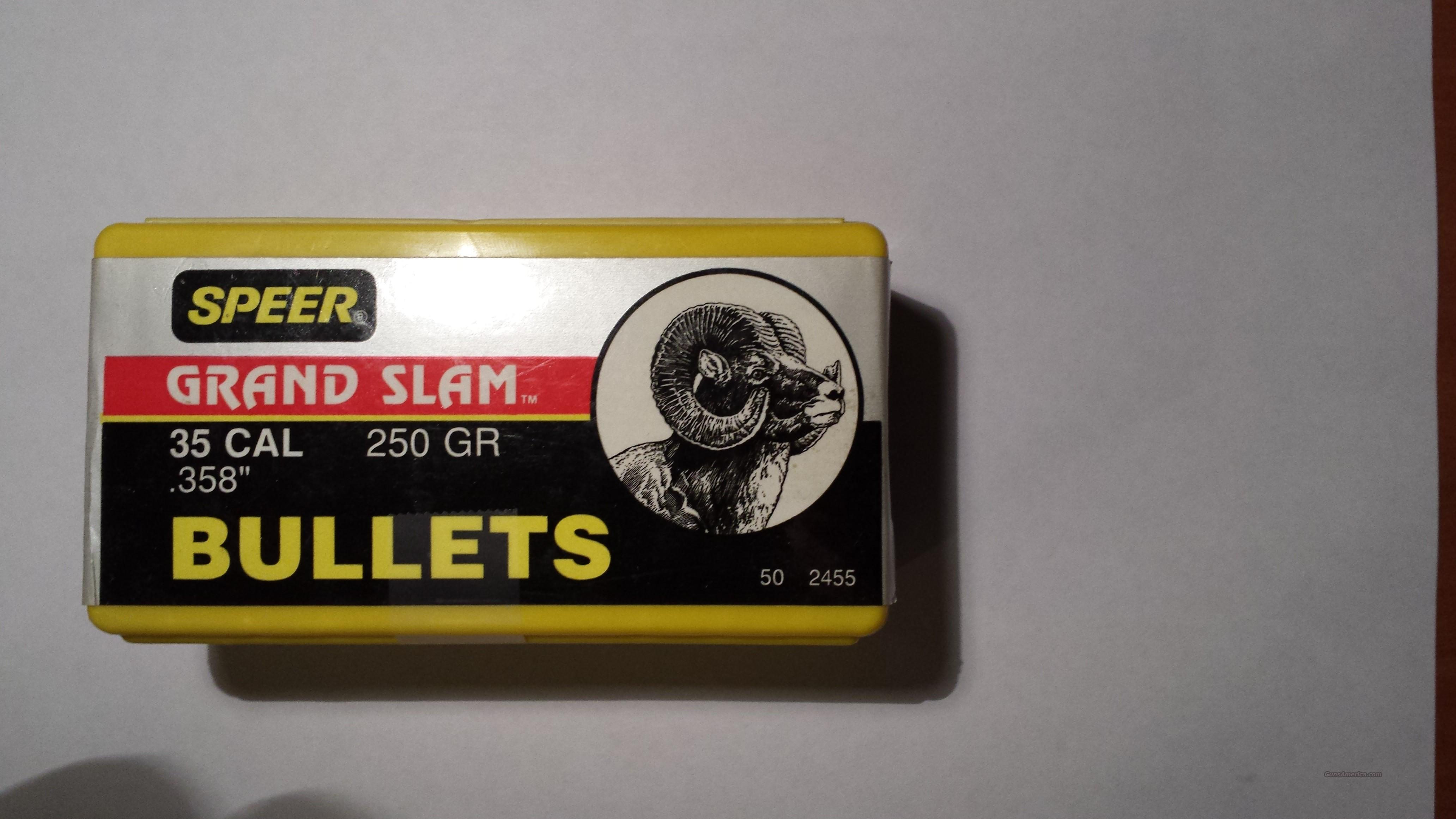 35 Caliber Speer Grand Slam Bullets  Non-Guns > Reloading > Components > Bullets