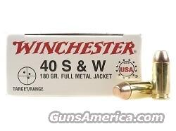 40 S&W Ammo - 3 Boxes Winchester FMJ 180 GR  Non-Guns > Ammunition