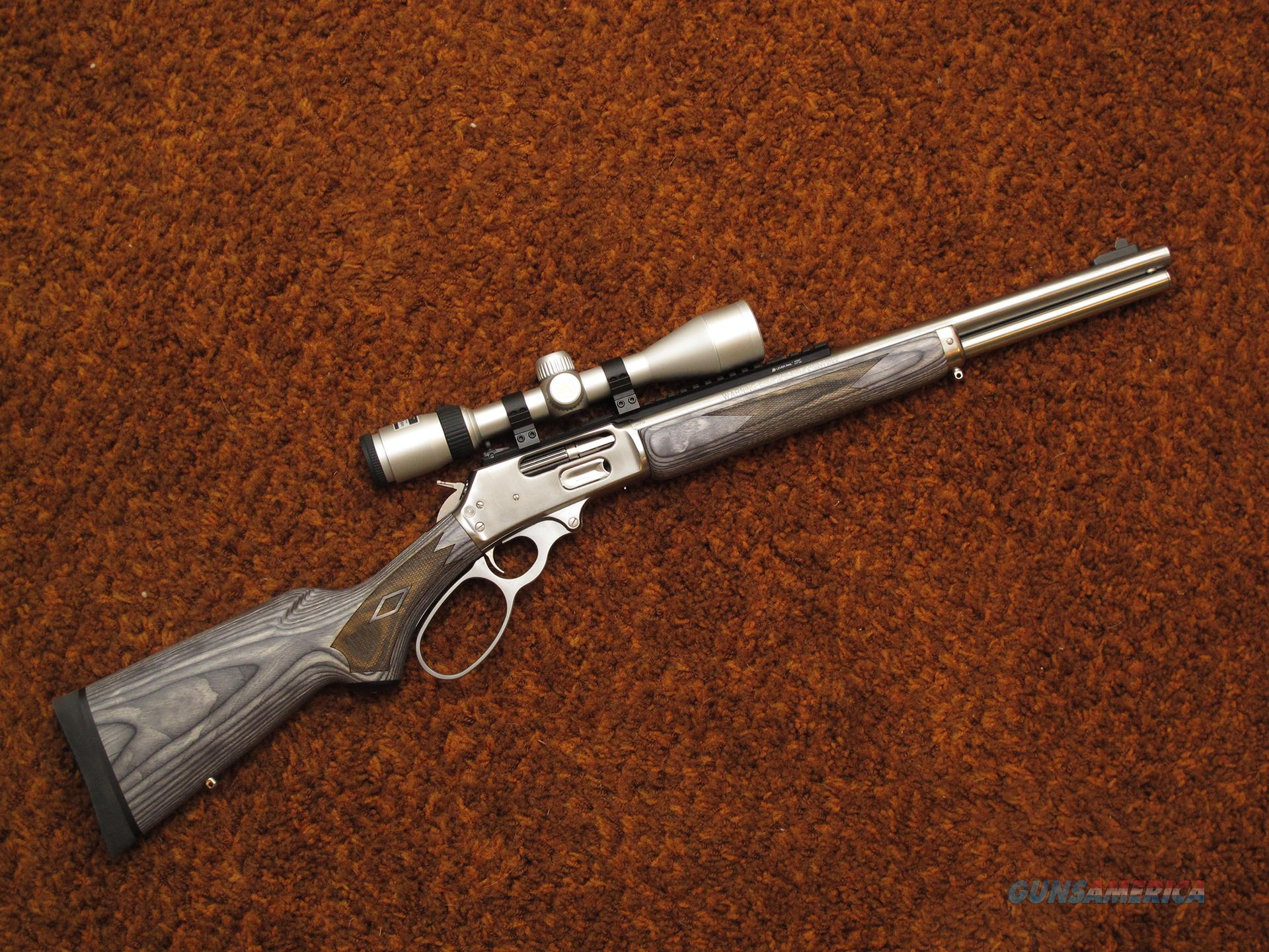 Marlin 1895 Stainless 1895SBL lever action 45-70 with Scope   Guns > Rifles > Marlin Rifles > Modern > Lever Action