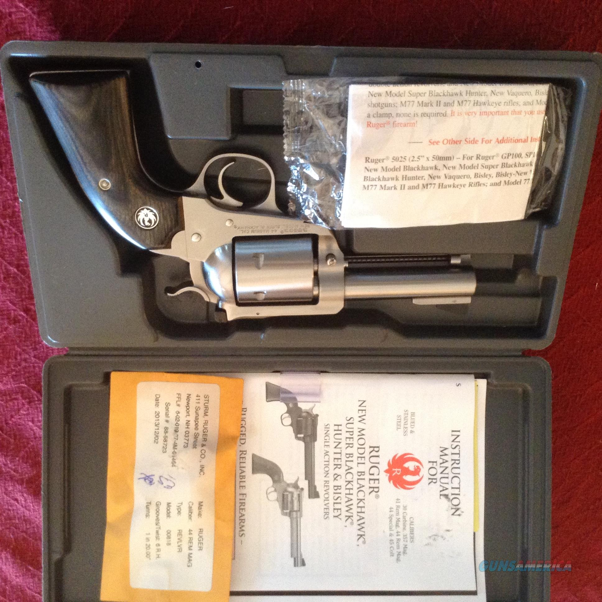 Ruger New Model Blackhawk Bisley 44 Mag  Guns > Pistols > Ruger Single Action Revolvers > Blackhawk Type