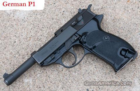 German Walther P1 9mm Pistol  Guns > Pistols > Walther Pistols > Post WWII > PP Series