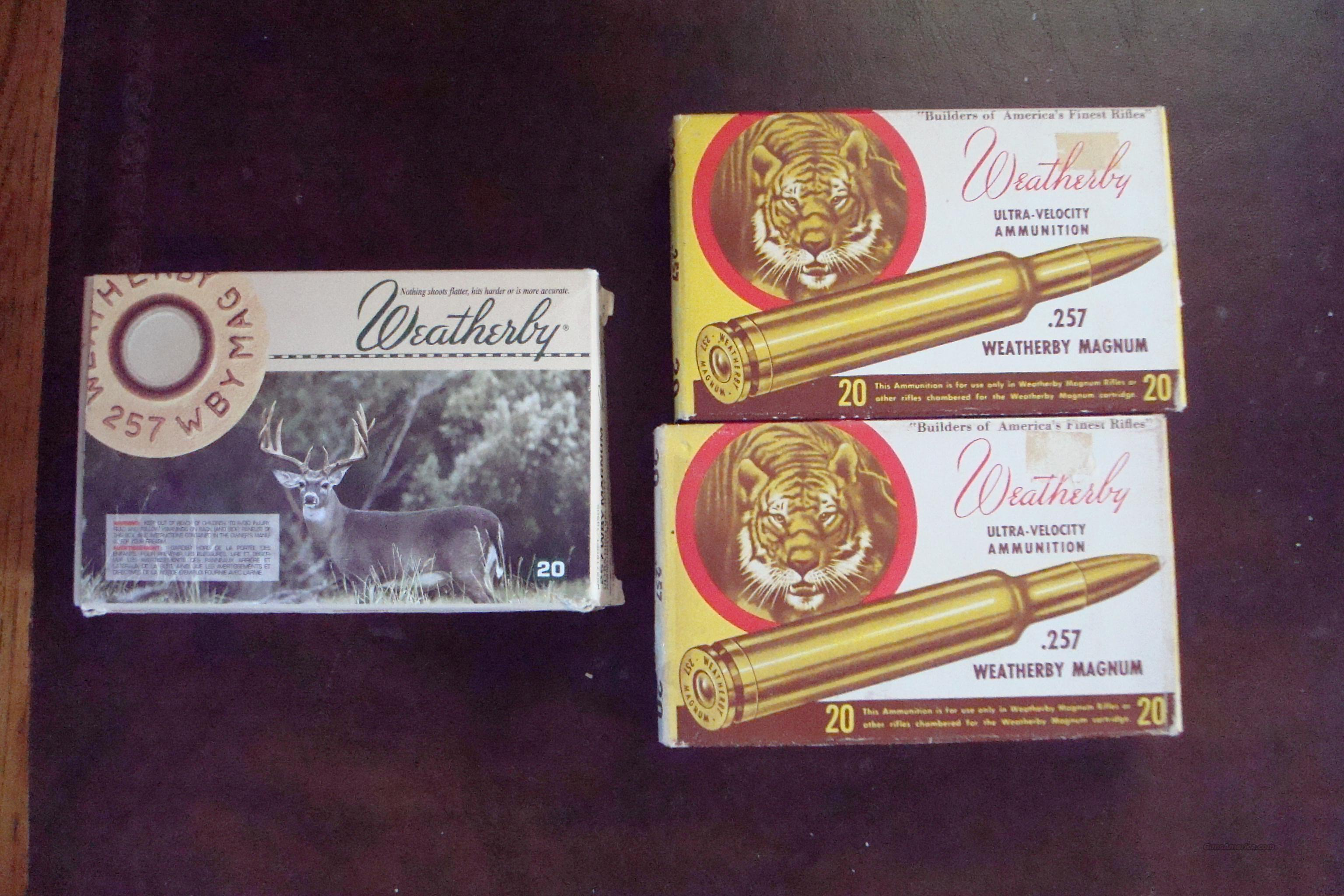 257 Weatherby ammo  Non-Guns > Ammunition